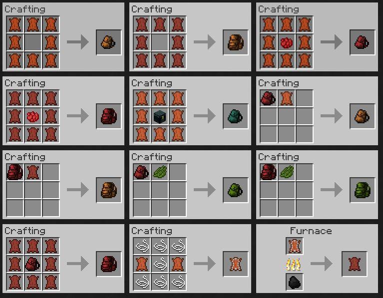 Backpacks mod [1. 8] [1. 7. 10] [1. 7. 2] [1. 6. 4] / minecraft mods.