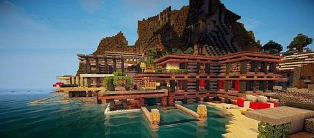 Luxurious Cove House 1 9 2 1 9 1 8 9 Minecraft Maps Minecraft Inside Com